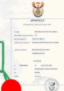 apostille in california