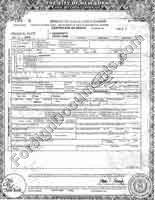 Translation into Russian of death certificate issued in New York, USA.