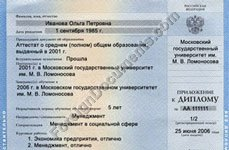 Certified translation of Transcript from Russian