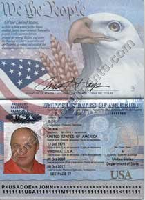 Translation of USA passport