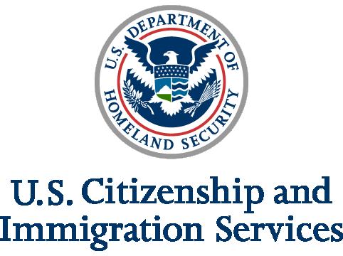 USCIS logo, translation for immigration